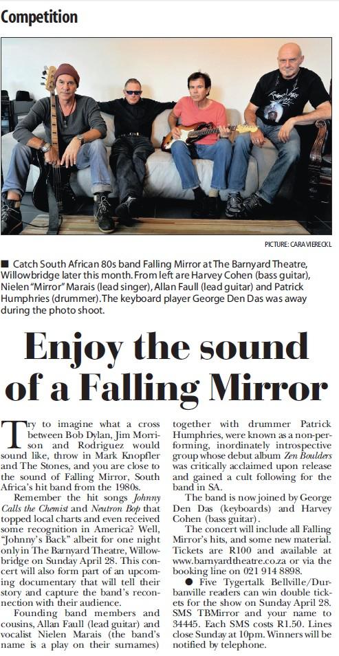 Enjoy The Sound Of A Falling Mirror | TygerTalk 18 April 2013